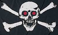 Large Red Eye Pirate Flag